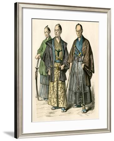 Japanese Swordsmen--Framed Giclee Print