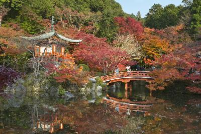 Japanese Temple Garden in Autumn, Daigoji Temple, Kyoto, Japan-Stuart Black-Photographic Print