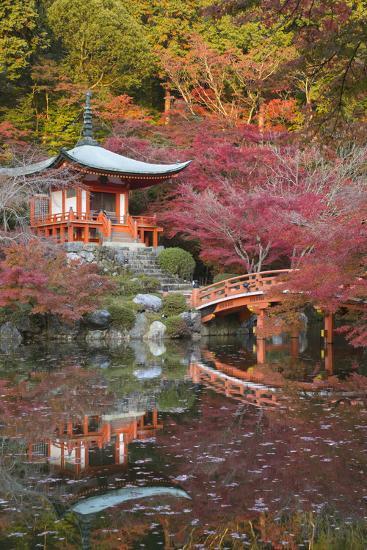 Japanese Temple Garden in Autumn, Daigoji Temple, Kyoto, Japan-Stuart Black-Photographic Print