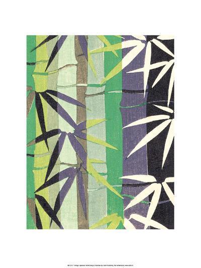 Japanese Textile Woodblock, Bamboo--Art Print