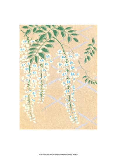 Japanese Textile Woodblock, Wisteria--Art Print