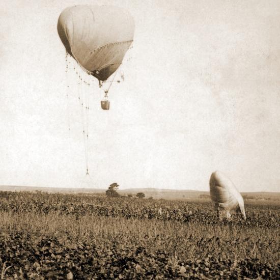 Japanese War Balloons, Port Arthur, Lüshunkou District, China, 1904--Photographic Print