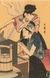 Japanese Woodblock, Cooking
