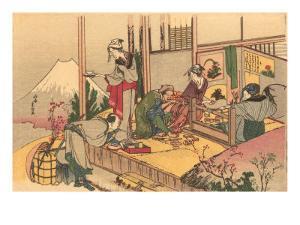 Japanese Woodblock, Tea Ceremony