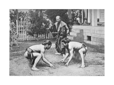Japanese Wrestlers Ready for a Go, c1902, (1903)--Giclee Print