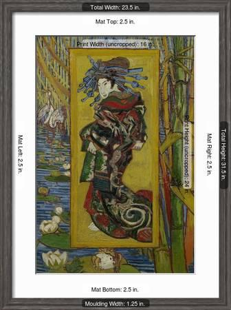 Japonaiserie Courtesan Or Oiran After Kesai Eisen Paris 1887 Giclee Print Vincent Van Gogh Art Com