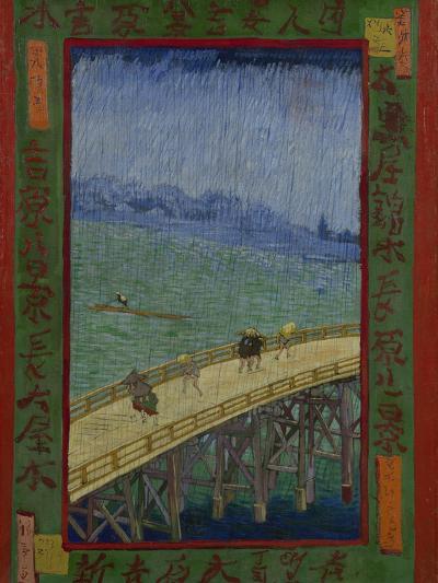 Japonaiserie: The Bridge in the Rain (after Hiroshige), Paris, 1887-Vincent van Gogh-Giclee Print