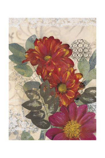 Japonesque Daisies-Matina Theodosiou-Art Print