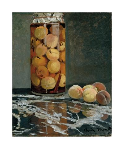 Jar of Peaches, 1866-Claude Monet-Premium Giclee Print