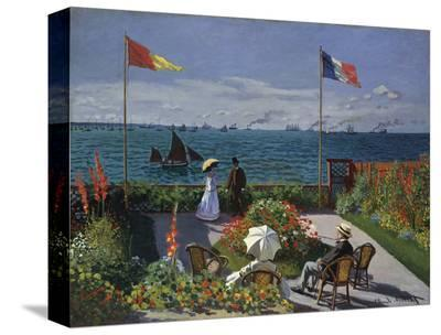 Jardin a Sainte-Adresse, 1866/1867-Claude Monet-Stretched Canvas Print