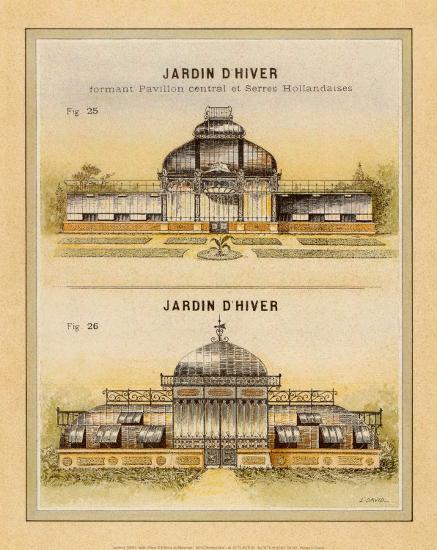 Jardin d'Hiver-Laurence David-Art Print