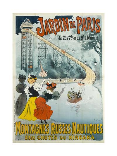 Jardin De Paris, Water Coaster also known as Niagara Falls-Georges Henri Jean Isidore Meunier-Giclee Print