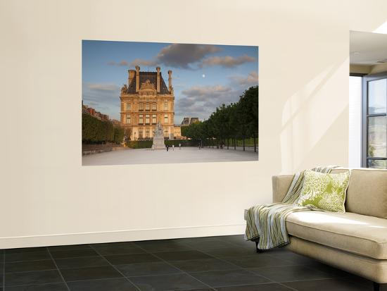 Jardin Du Tuileries and Musee Du Louvre, Paris, France-Jon Arnold-Wall Mural
