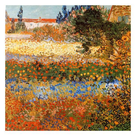 Jardin Fleuri A Arles Art Print by Vincent van Gogh | Art.com