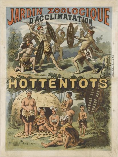 Jardin Zoologique D Acclimatation Hottentots Giclee Print