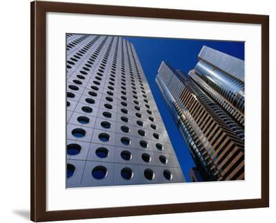 Jardine House and the Exchange Square Towers in Central-Krzysztof Dydynski-Framed Photographic Print