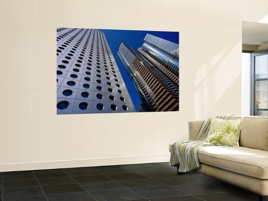 Jardine House and the Exchange Square Towers in Central-Krzysztof Dydynski-Wall Mural