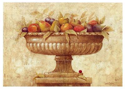 Jarron con Frutas I-Javier Fuentes-Art Print