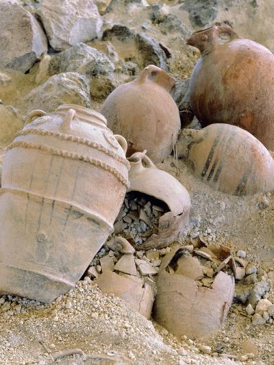 Jars Unearthed at the Archaeological Site of Akrotiri on Thera--Giclee Print