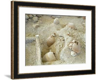 Jars Unearthed at the Archaeological Site of Akrotiri on Thera--Framed Giclee Print