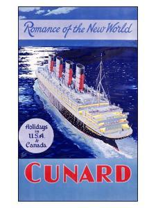 Cunard Line, Romance of the World by Jarvis