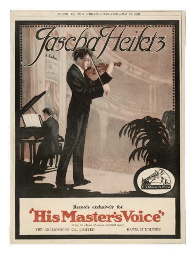 Jascha Heifetz American Violinist--Giclee Print