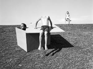 Deichaktionen 2, 2015 by Jaschi Klein