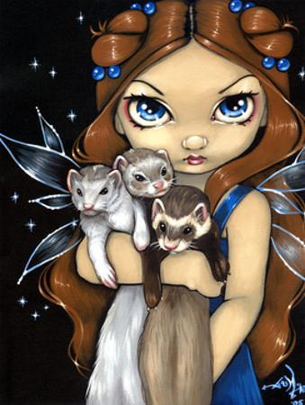 Armful of Ferrets - Ferret Art by Jasmine Becket-Griffith