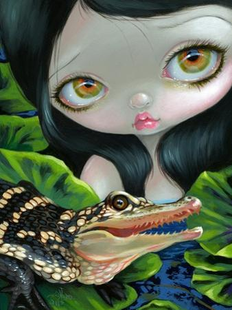 Mermaid with a Baby Alligator by Jasmine Becket-Griffith