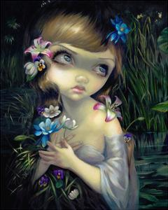 Portrait of Ophelia by Jasmine Becket-Griffith