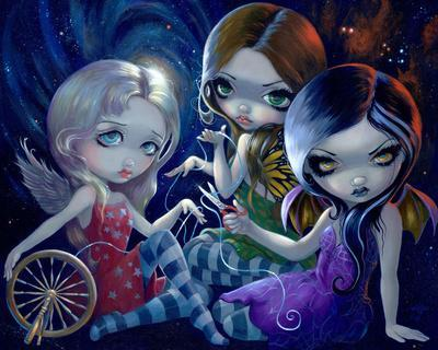 Voodoo In Blue by Jasmine Becket-Griffith Art Print Gothic Girl Poster