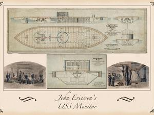 Poster of the Uss Monitor General Plans by Jason Copes