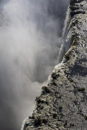 The Flooded Waters of the Zambezi River Pour over Victoria Falls, into the Cataract of First Gorge by Jason Edwards