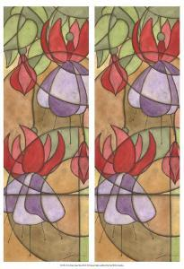 2-Up Stain Glass Floral III by Jason Higby