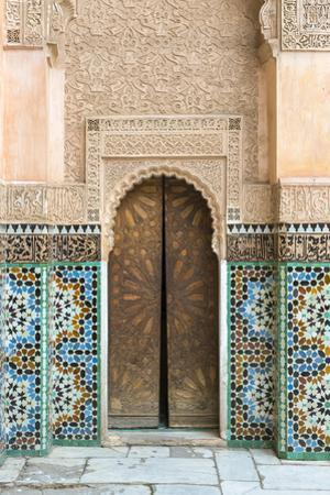 Ben Youssef Madrasa, 16th century Islamic College, UNESCO World Heritage Site, Marrakesh, Morocco,  by Jason Langley