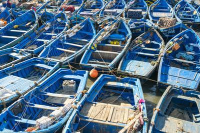 Boats in the fishing port, Essaouira, Marrakesh-Safi region, Morocco, North Africa, Africa by Jason Langley