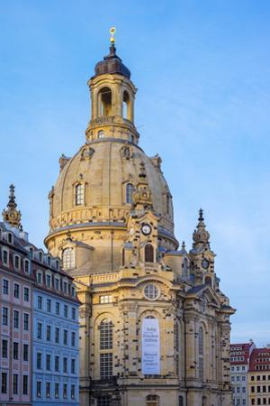 Dresdner Frauenkirche (Church of Our Lady) and buildings on Neumarkt, Altstadt (Old Town), Dresden, by Jason Langley