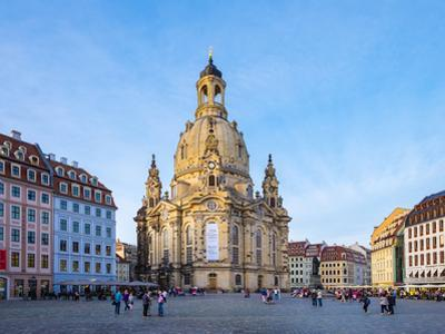 Dresdner Frauenkirche (Church of Our Lady) and buildings on the Neumarkt, Altstadt (Old Town), Dres by Jason Langley