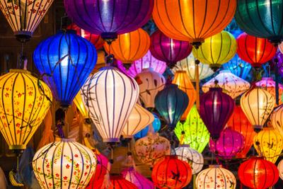 Hand-made silk lanterns for sale on the street in Hoi An, Quang Nam Province, Vietnam by Jason Langley