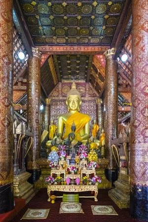 Main Altar, Interior of Wat Xieng Thong Buddhist Temple, UNESCO World Heritage Site by Jason Langley
