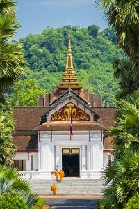 Monks entering Royal Palace Museum in Luang Prabang, Louangphabang Province, Laos by Jason Langley