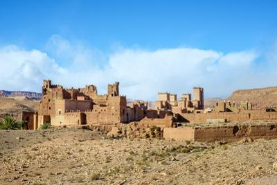 Mud Kasbah buildings at Ksar of Tamedakhte, Ouarzazate Province, Souss-Massa-Draa, Morocco, North A by Jason Langley