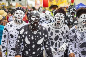 Participants celebrate Ati-Atihan festival, Aklan, Western Visayas, Philippines by Jason Langley