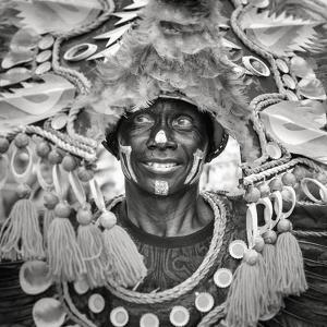 Portrait of Ati-atihan festival participant, Kalibo, Aklan, Western Visayas, Philippines by Jason Langley
