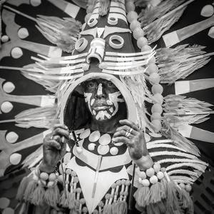 Portrait of Ati-atihan festival participant, Kalibo, Aklan, Western Visayas, Philippines by Jason Langley