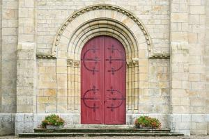 Red Church Door France by Jason Langley