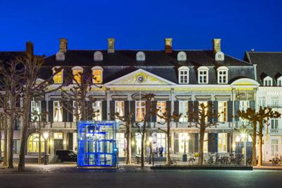 Theatre aan het Vrijthof on Vrijthof square at night, Maastricht, Limburg, Netherlands, Europe by Jason Langley