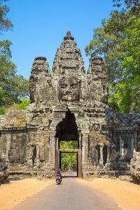 Victory Gate entrance to Angkor Thom, UNESCO World Heritage Site, Siem Reap Province, Cambodia by Jason Langley