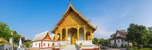 Wat Nong Sihkounmuang buddhist temple panorama, Luang Prabang, Louangphabang Province, Laos by Jason Langley