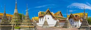 Wat Pho (Temple of the Reclining Buddha) panorama, Bangkok, Thailand by Jason Langley